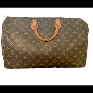💯 Authentic Louis Vuitton Monogram Speedy 40